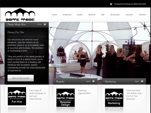 Event Company Web Design