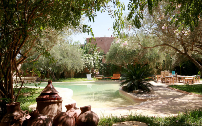 Riad Garden and Swimming Pool - Marrakech, Morocco
