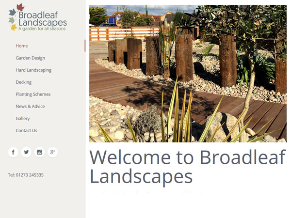 Homepage Web Design Broadleaf Landscapes