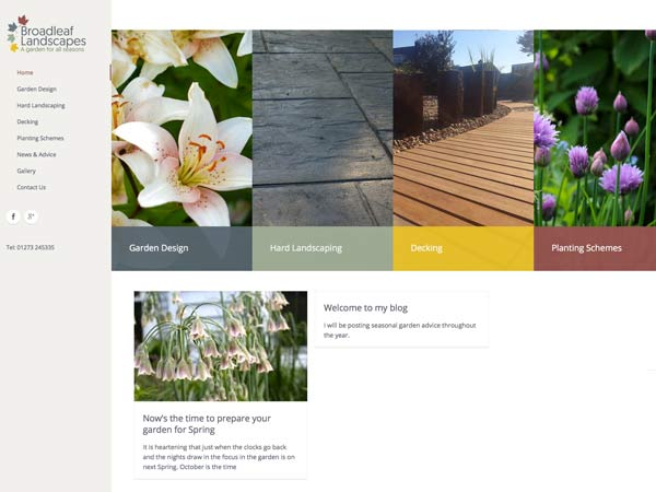 Broadleaf Landscapes Web Design by Simon Web